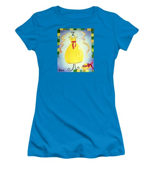 Women's T-Shirt (Junior Cut) featuring the painting Just A Simple Hat And Dress by Eloise Schneider