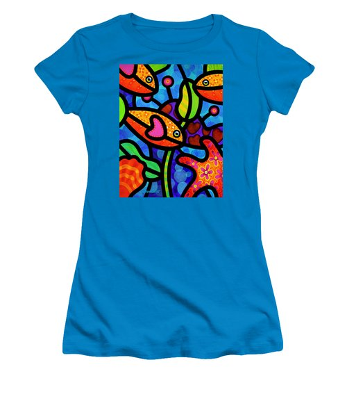 Kaleidoscope Reef Women's T-Shirt (Athletic Fit)