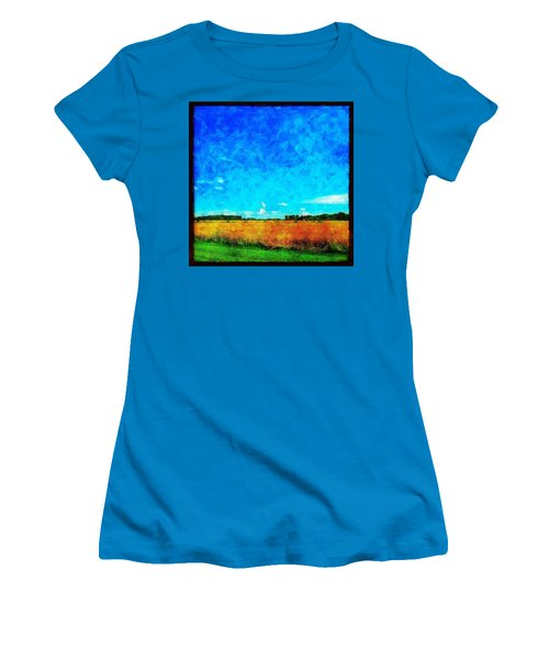 Lazy Clouds In The Summer Sun Women's T-Shirt (Athletic Fit)