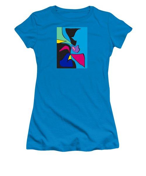 Original Abstract Art Painting Life Is Good By Rjfxx.  Women's T-Shirt (Athletic Fit)
