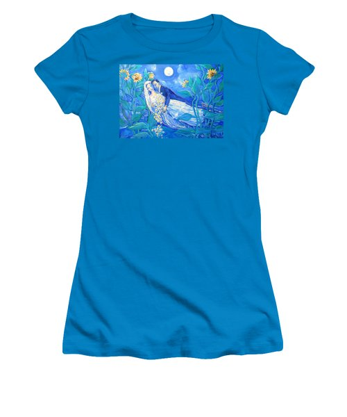 Lovers And Sunflowers  After Marc Chagall  Women's T-Shirt (Athletic Fit)