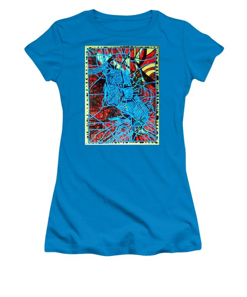 Maiden In Blue - Mary In The Temple Women's T-Shirt (Athletic Fit)