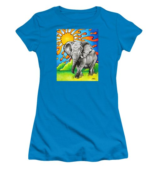 Majestic Elephant Women's T-Shirt (Athletic Fit)