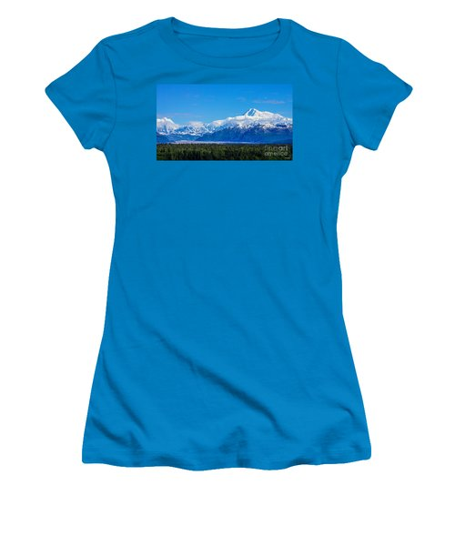 Majestic Mt Mckinley Women's T-Shirt (Junior Cut) by Jennifer White