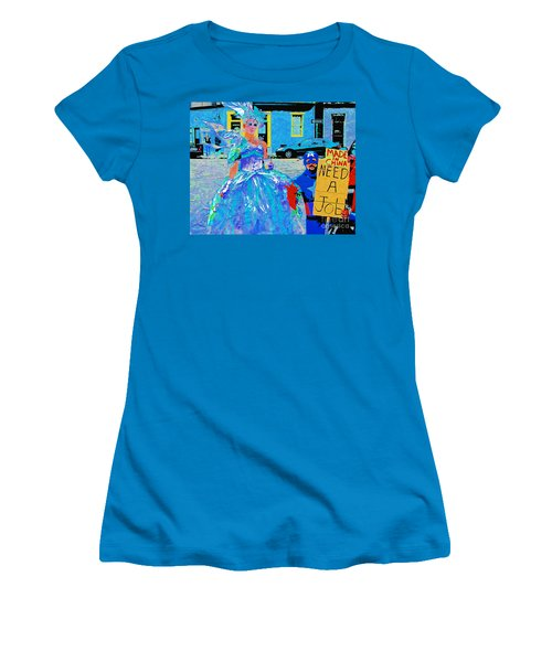 Women's T-Shirt (Junior Cut) featuring the photograph Mardi Gras New Orleans by Luana K Perez