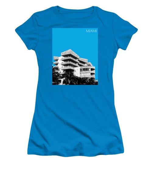Miami Skyline Art Deco District - Ice Blue Women's T-Shirt (Athletic Fit)