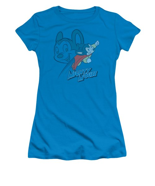 Mighty Mouse - Double Mouse Women's T-Shirt (Junior Cut) by Brand A