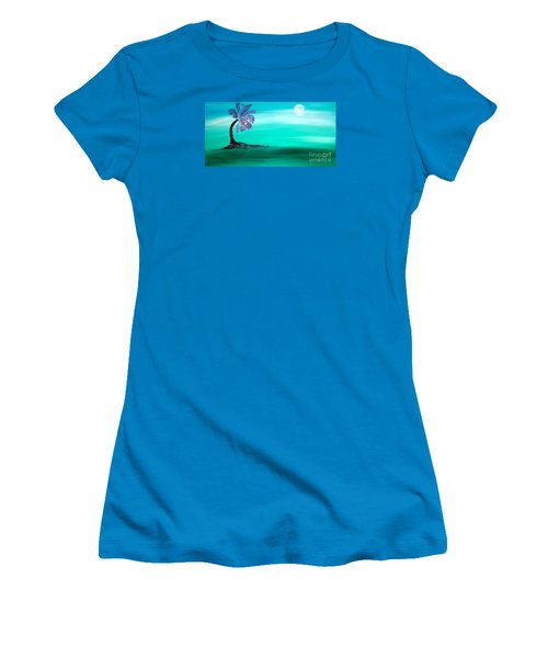 Moonlit Palm Women's T-Shirt (Athletic Fit)