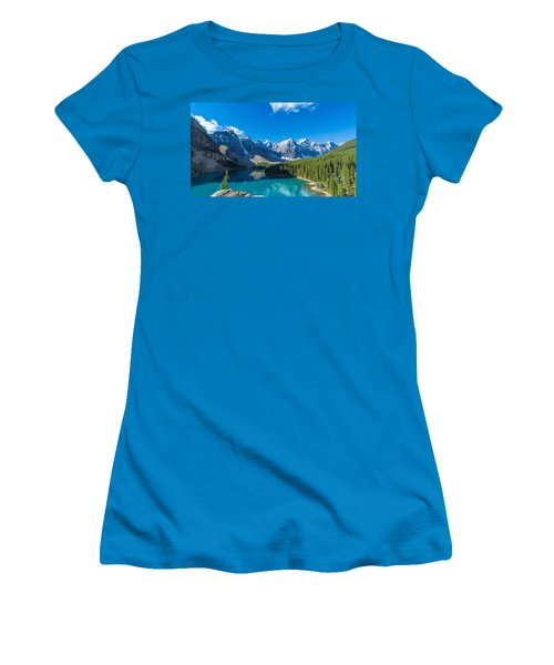 Moraine Lake At Banff National Park Women's T-Shirt (Athletic Fit)