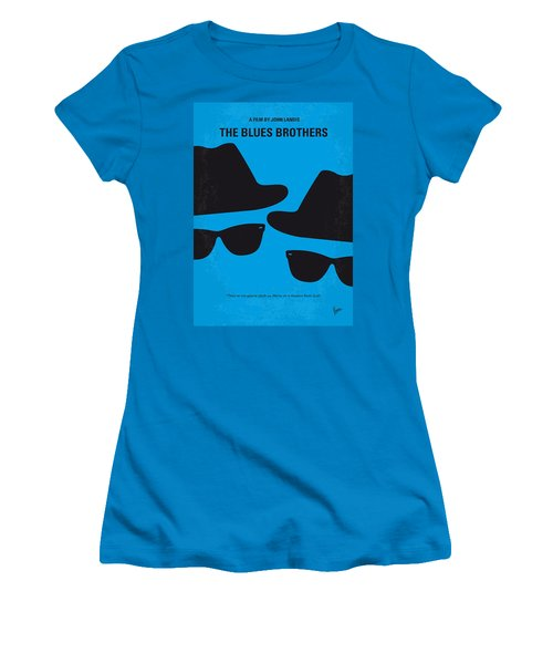 No012 My Blues Brother Minimal Movie Poster Women's T-Shirt (Junior Cut) by Chungkong Art