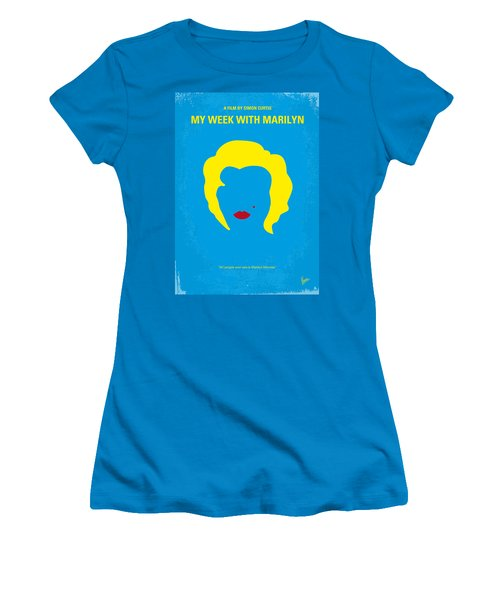 No284 My Week With Marilyn Minimal Movie Poster Women's T-Shirt (Athletic Fit)