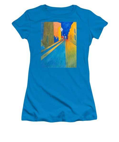 Orange France At Night Women's T-Shirt (Athletic Fit)