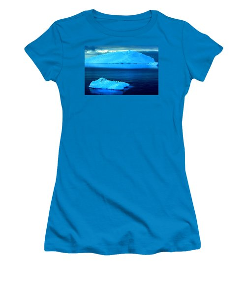 Penguins On Iceberg Women's T-Shirt (Athletic Fit)