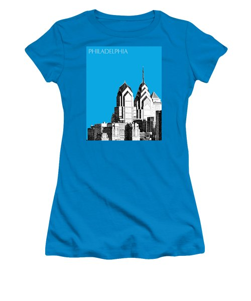 Philadelphia Skyline Liberty Place 1 - Ice Blue Women's T-Shirt (Athletic Fit)