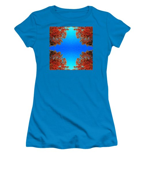 Women's T-Shirt (Junior Cut) featuring the photograph Rust And Sky 1 - Abstract Art Photo by Marianne Dow