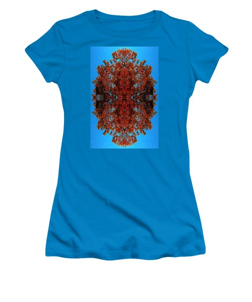 Women's T-Shirt (Junior Cut) featuring the photograph Rust And Sky 5 - Abstract Art Photo by Marianne Dow