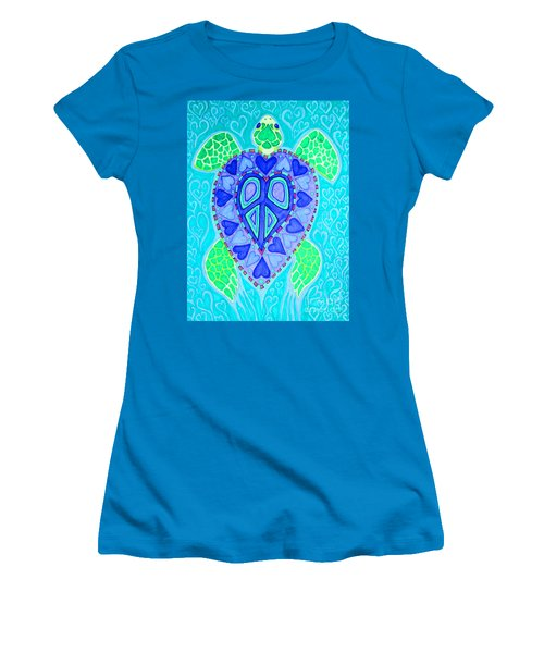 Sea Turtle Swim Women's T-Shirt (Athletic Fit)