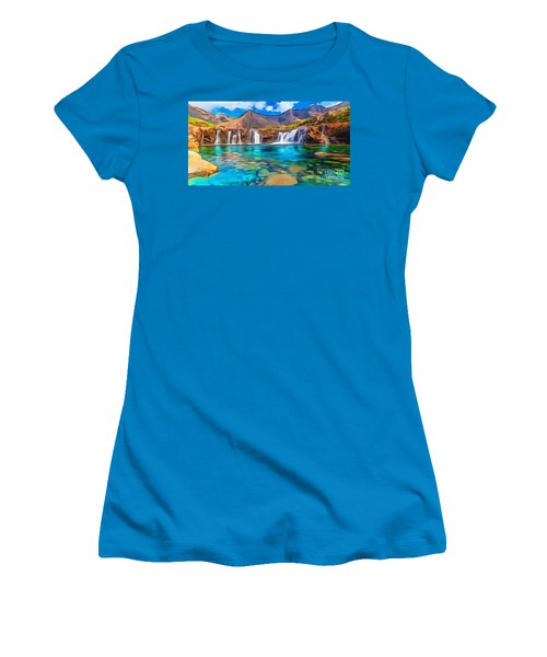 Serene Green Waters Women's T-Shirt (Junior Cut) by Catherine Lott