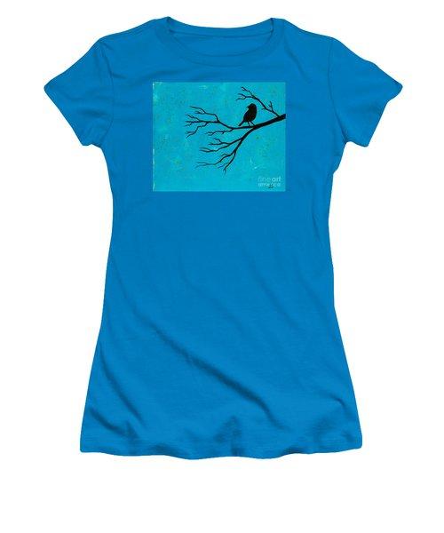 Silhouette Blue Women's T-Shirt (Junior Cut)