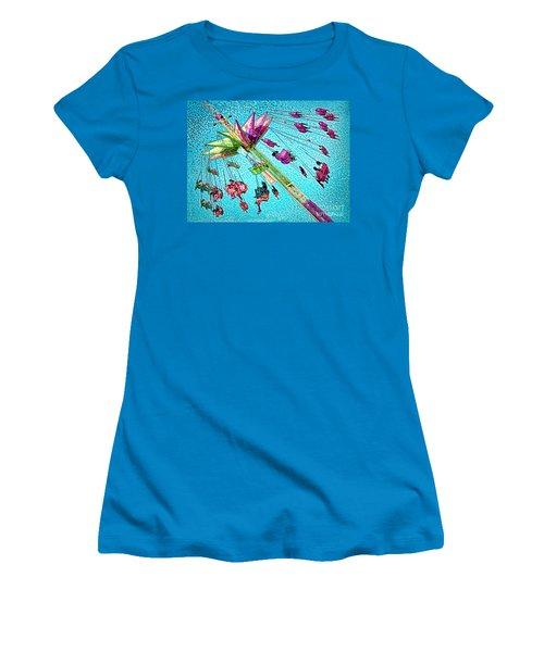 Women's T-Shirt (Junior Cut) featuring the digital art Sky Flyer by Jennie Breeze