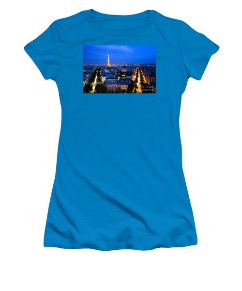 Skyline Of Paris Women's T-Shirt (Athletic Fit)