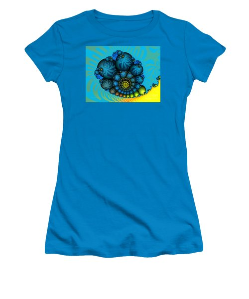 Snail Mail-fractal Art Women's T-Shirt (Athletic Fit)