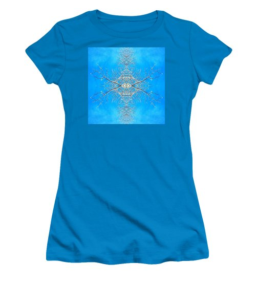 Snowy Branches In The Sky Abstract Art Photo Women's T-Shirt (Athletic Fit)
