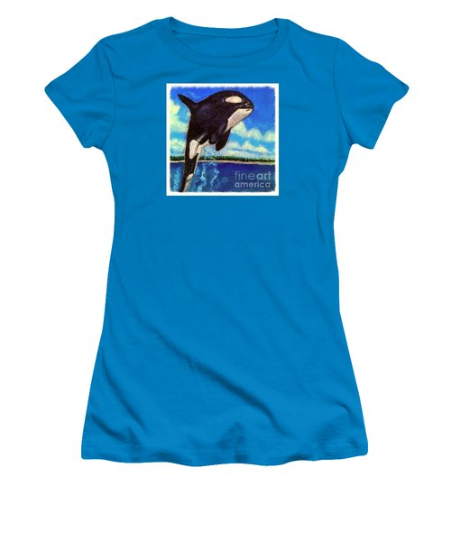 Women's T-Shirt (Junior Cut) featuring the painting Standing Above The Rest by Kimberlee Baxter