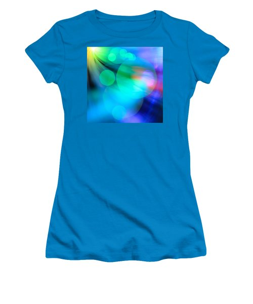 Women's T-Shirt (Junior Cut) featuring the photograph Strangers In The Night by Dazzle Zazz