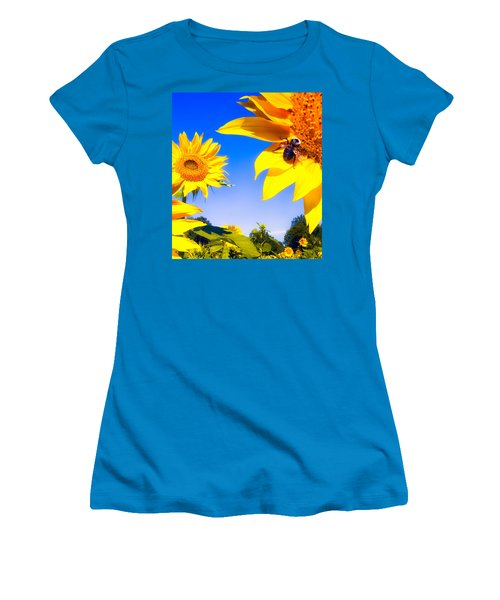 Summertime Sunflowers Women's T-Shirt (Athletic Fit)