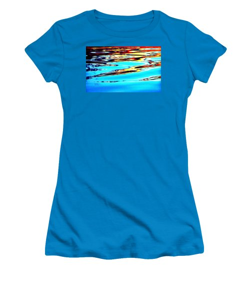 Sunset On Water Women's T-Shirt (Athletic Fit)
