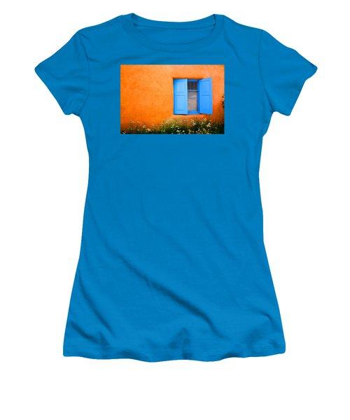 Women's T-Shirt (Junior Cut) featuring the photograph Taos Window IIi by Lanita Williams