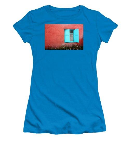 Women's T-Shirt (Junior Cut) featuring the photograph Taos Window Iv by Lanita Williams