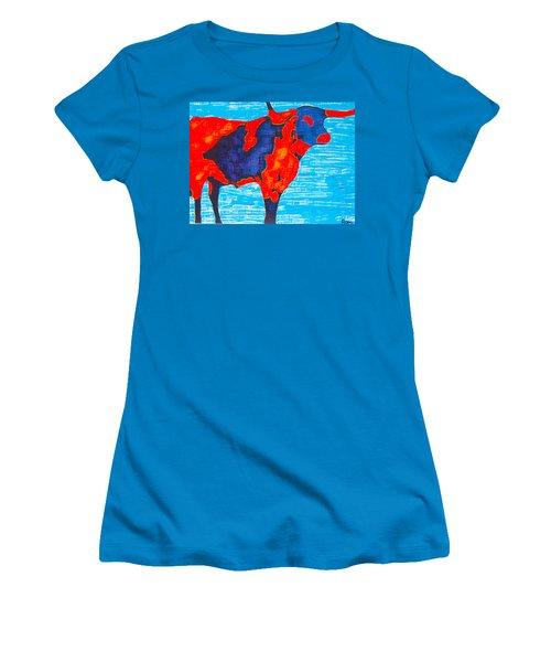 Texan Longhorn Women's T-Shirt (Athletic Fit)