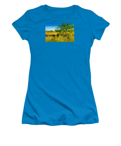 Texas Hill Country Wildflowers Women's T-Shirt (Junior Cut) by Darryl Dalton