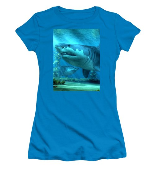 The Biggest Shark Women's T-Shirt (Athletic Fit)