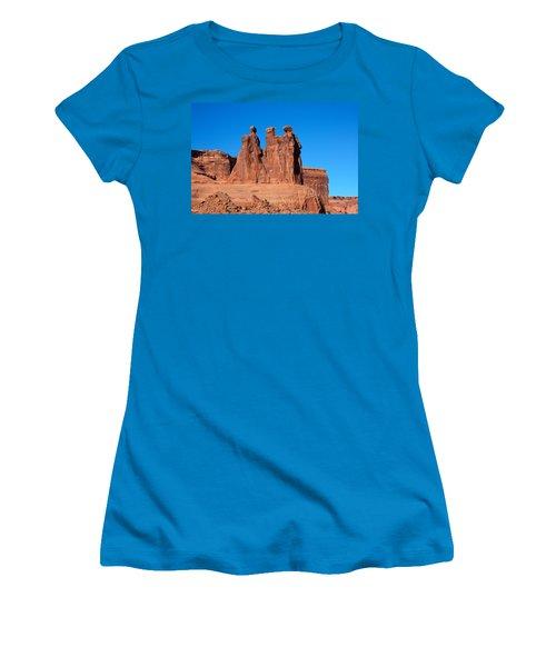 The Watchers Women's T-Shirt (Junior Cut) by John M Bailey