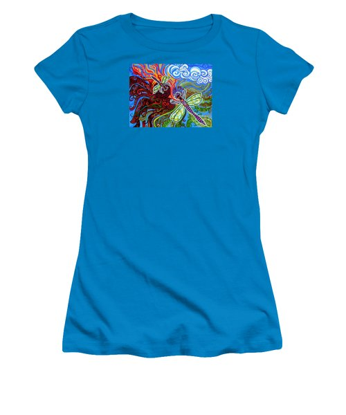 Two Dragonflies Women's T-Shirt (Athletic Fit)