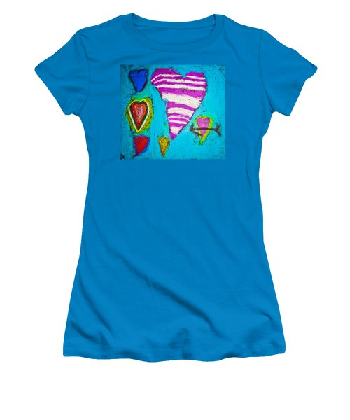 Women's T-Shirt (Junior Cut) featuring the photograph Vibrant Love by Sara Frank