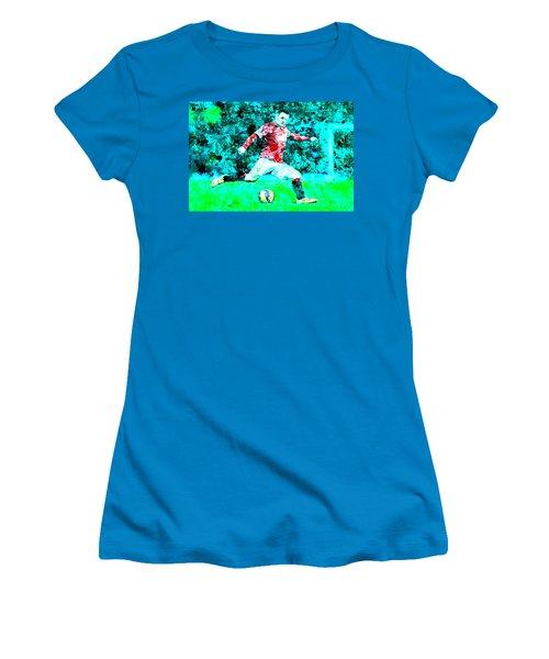 Wayne Rooney Splats Women's T-Shirt (Athletic Fit)