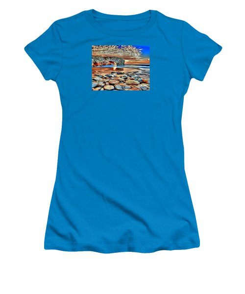 Weighed In Stone Women's T-Shirt (Junior Cut) by Catherine Lott
