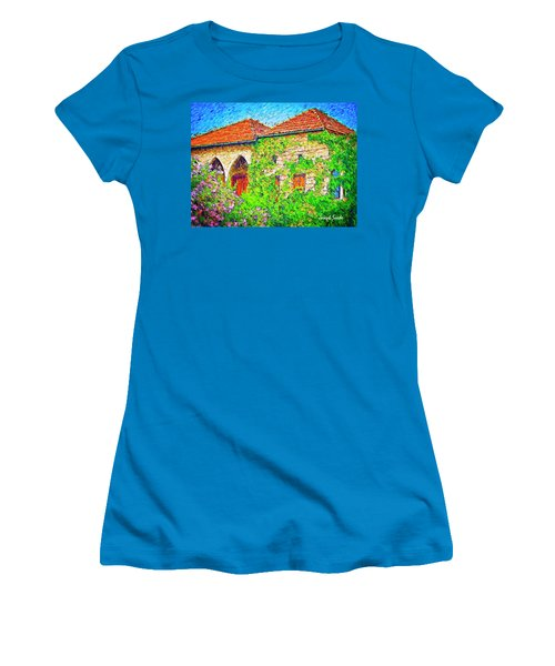 Women's T-Shirt (Athletic Fit) featuring the photograph Do-00530 Old House by Digital Oil