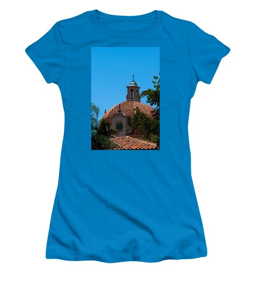 Women's T-Shirt (Junior Cut) featuring the photograph Dome At Church Of The Little Flower by Ed Gleichman