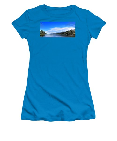 Women's T-Shirt (Junior Cut) featuring the photograph Lake Alva by Janie Johnson