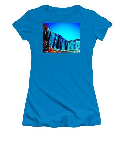 Lake Powell Blue Ice Women's T-Shirt (Junior Cut) by Rebecca Margraf