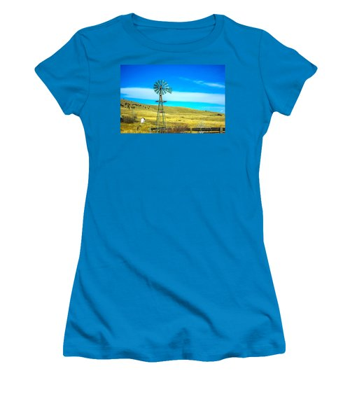 Women's T-Shirt (Junior Cut) featuring the photograph Old Windmill by Shannon Harrington