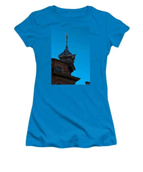 Women's T-Shirt (Junior Cut) featuring the photograph Turret At Tampa Bay Hotel by Ed Gleichman