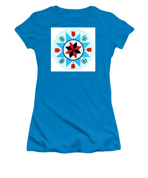 Women's T-Shirt (Junior Cut) featuring the photograph Amish Hex Design by Paul W Faust - Impressions of Light