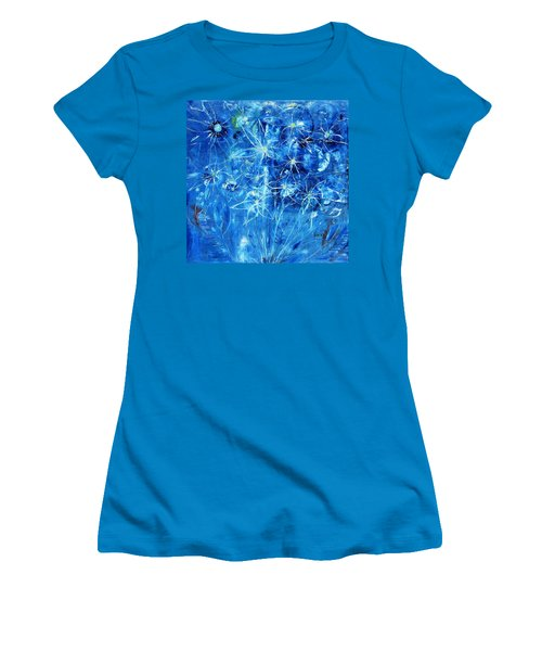 Blue Design Women's T-Shirt (Athletic Fit)