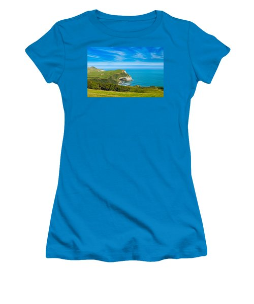 Cape Farewell Able Tasman National Park Women's T-Shirt (Junior Cut) by Ulrich Schade